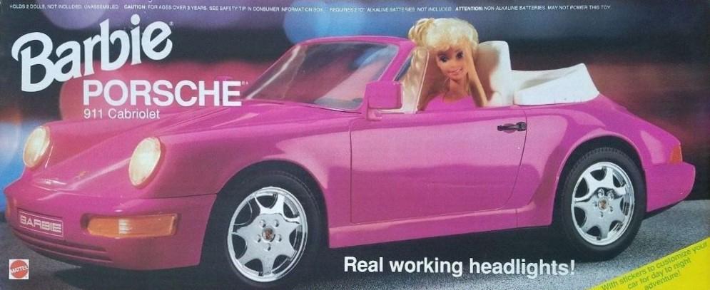 Barbie 1957 Chevrolet Bel AirBarbie 1991 Porsche 911 Carrera Cabriolet